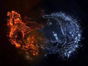 Обои Огонь и вода
