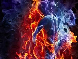 Обои Лёд и пламя