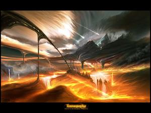 Обои Огненная фантазия