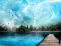 Обои для рабочего стола: Голубое озеро