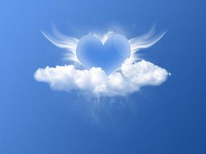 Обои Сердце ангела