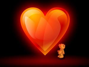 Обои Мишка с сердцем