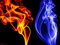 Обои для рабочего стола: Огонь и лёд