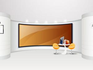 Обои Интерьер с телевизором