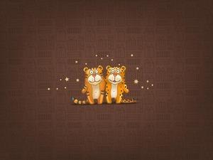 Обои Тигры