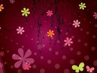 Обои для рабочего стола: Бабочки и цветы