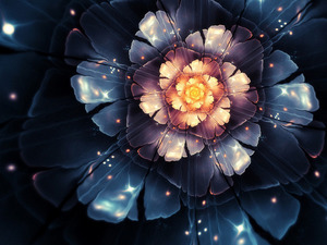 Обои Космический цветок