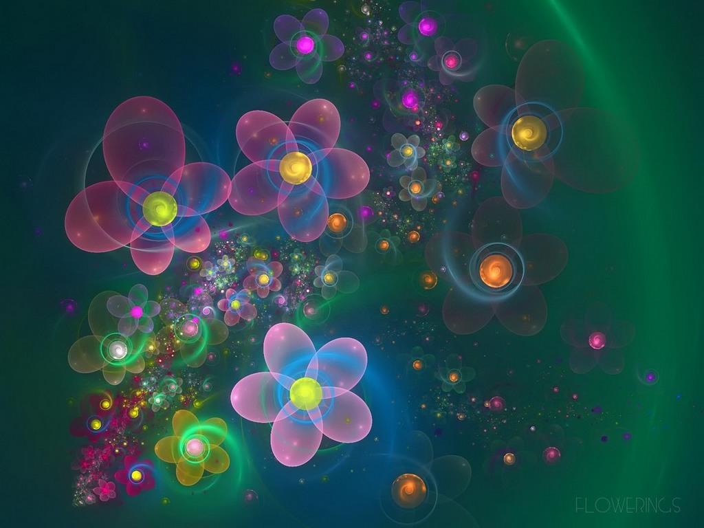 Фракталы цветы картинки 8