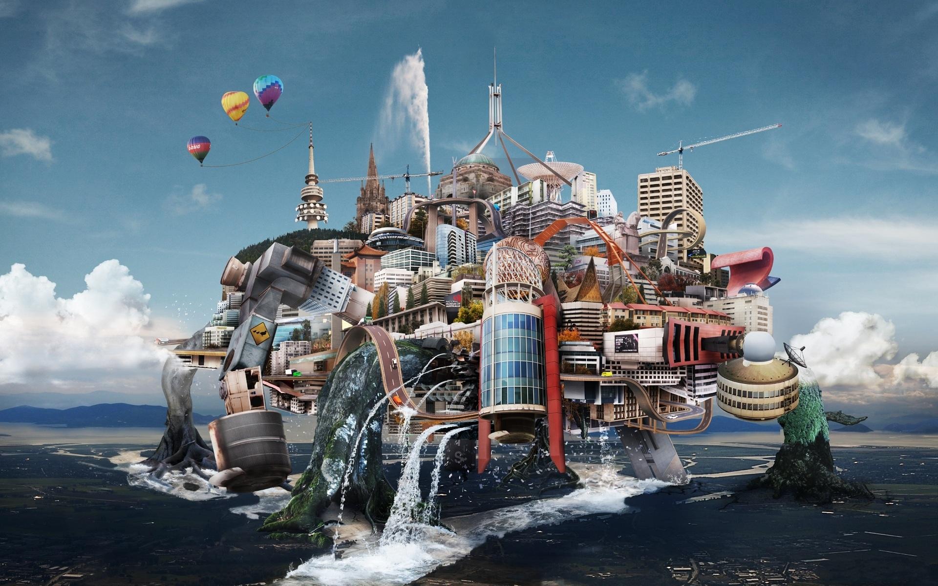 фотообои на рабочий фантастические города невероятной считается