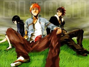 Обои Rukia, Ichigo, Renji (Bleach)