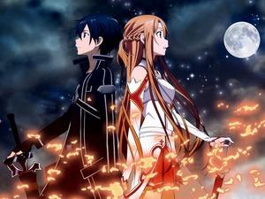 Обои Кирито и Асуна из Sword Art Online