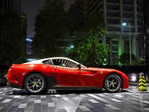 Обои Ferrari 599 GTO Red