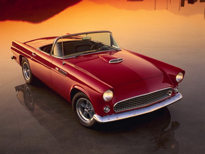 Обои Ford Thunderbird 1955