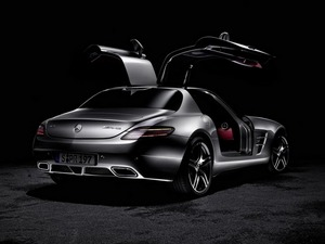 Обои Mercedes AMG SLS63 2010