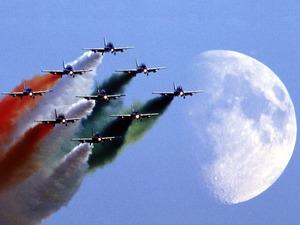 Обои Пилотажная группа ВВС Италии Freccie tricolori