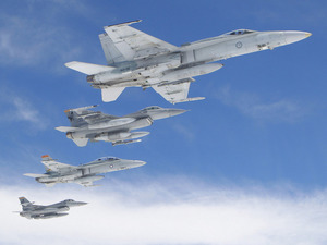 Обои F-18 и F-16