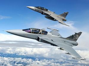 Обои Saab JAS 39 Gripen