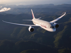 Обои Boeing 787 Dreamliner (Qatar)