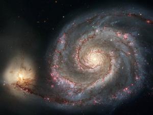 Обои Спиральная галактика M51 (Водоворот)