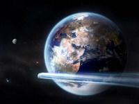 Обои для рабочего стола: Земля и комета