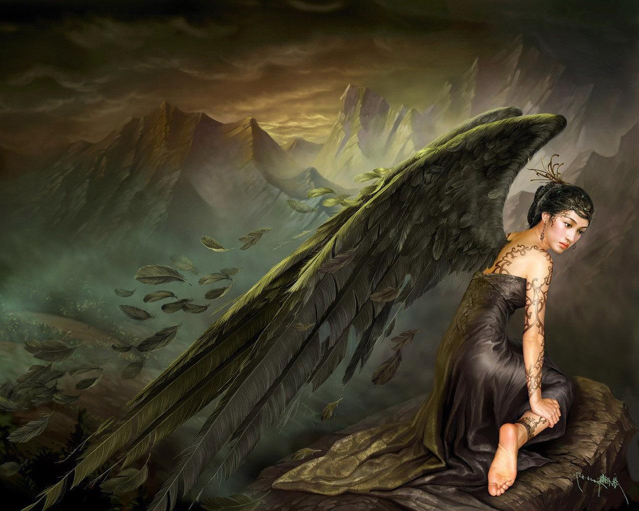 Ангел падший картинка