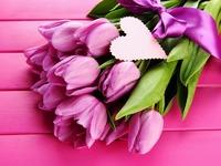 Обои для рабочего стола: Букет тюльпанов