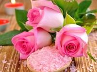 Обои для рабочего стола: Розы и свечи