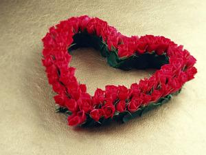 Обои Сердце из роз