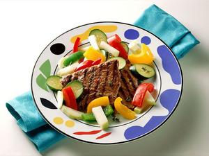 Обои Мясо с овощами