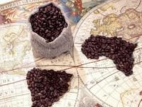 Обои для рабочего стола: Кофейные континенты
