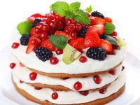 Обои для рабочего стола: Торт с ягодами