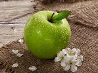 Обои для рабочего стола: Зелёное яблоко
