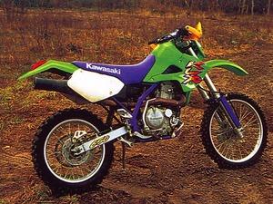 Обои Кроссовый мотоцикл Kawasaki