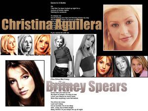 Обои Кристина Агилера и Бритни Спирс