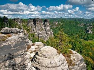 Обои Национальный парк Basteibrucke (Саксонская Швейцария), Германия
