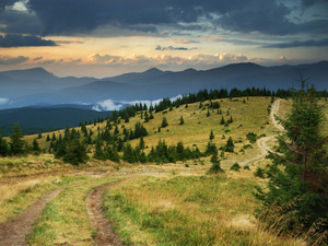 Обои Дорога по перевалу
