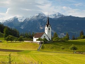 Обои Альпийский пейзаж