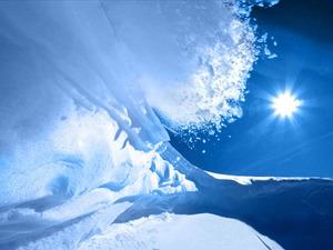 Обои Ледяное солнце