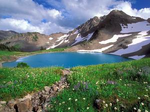 Обои Альпийское озеро