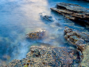Обои Жемчужное море и гранит