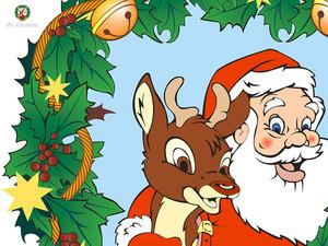 Обои Санта и олень (Mister Christmas)