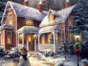Обои Домик Деда Мороза