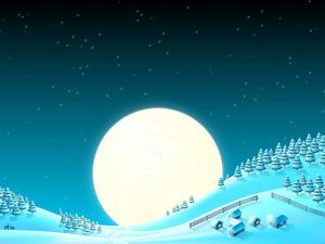 Обои Зимняя луна