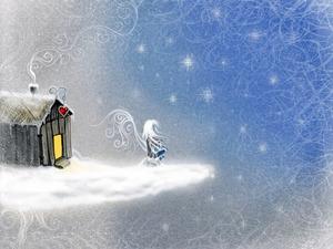 Обои Снежный ангел