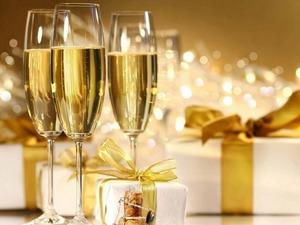 Обои Новогоднее шампанское
