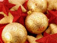 Обои для рабочего стола: Золотые шарики