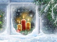 Обои для рабочего стола: Новогодние свечи