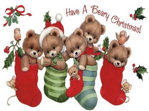 Обои Медвежье рождество