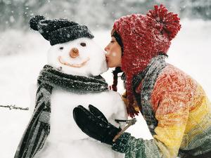 Обои Любимый снеговик