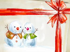 Обои Снеговички